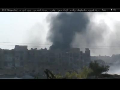 Video-Bild von den Kämpfen in Aleppo: Foto: Ugarit News