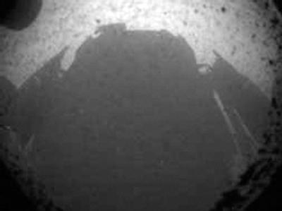 Die erste Aufnahme des Mars-Rovers