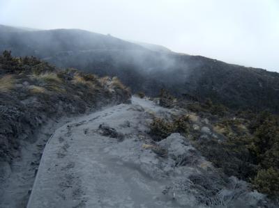 Der Vulkan Tongariro dampft nach seinem überraschenden Ausbruch weiter. Aus neuen Rissen im Berg steigen Dampffontänen auf. Ein zweiter Vulkan hat auch «gerülpst», wie ein Forscher sagte. Foto: New Zealand Police
