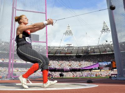 Hammerwerferin Betty Heidler hat sich locker für das Finale qualifiziert. Foto: Kerim Okten