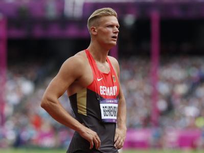 Pascal Behrenbruch war mit seiner 100-Meter-Zeit nicht zufrieden. Foto: Diego Azubel