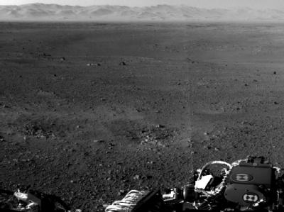 Der Rover «Curiosity» schickt immer bessere Fotos vom Mars und lässt damit Wissenschaftler jubeln. Die hügelige Landschaft erinnert an die Erde. Foto: Nasa/JPL-Caltech/MSSS