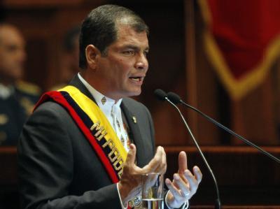 Ecuadors Staatschef Rafael Correa