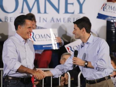 Romney und Ryan (r)