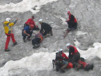 Rettung auf dem Gletscher