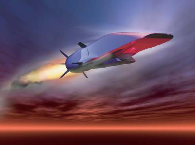 Sechsfache Schallgeschwindigkeit: Der X-51A Waverider auf einer Zeichnung der US-Luftwaffe. Foto: US Air Force