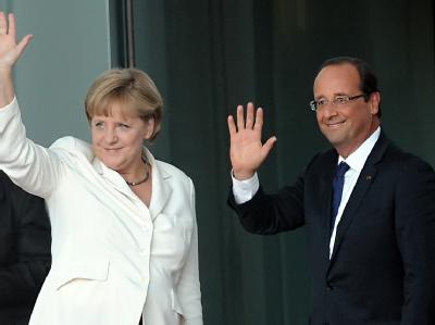 Merkel empfängt Hollande