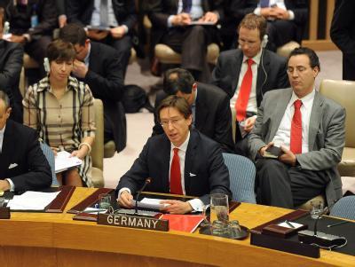 Deutschlands UN-Botschafter Peter Wittig bei einem Treffen des Sicherheitsrates. Foto: Andrew Gombert