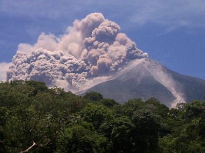Der Fuego ist laut vulkanologische Institut (Insivumeh) der aktivste Vulkan der vergangenen Jahre in Mittelamerika. Foto: Stringer