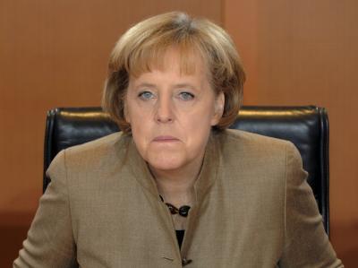 Schwer verärgert: Bundeskanzlerin Angela Merkel.