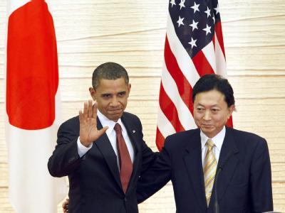 US-Präsident Barack Obama und der japanische Ministerpräsident Yukio Hatoyama.</p><p>.