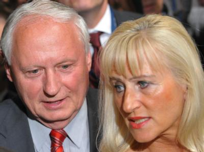 Oskar Lafontaine und seine Frau Christa Müller im Bundestagswahlkampf 2009