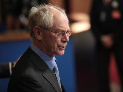 Der ständige EU-Ratspräsident Herman Van Rompuy lehnt die von Deutschland geforderte Änderung der EU-Verträge ab.