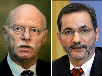 Peter Struck schleppte sich auch angeschlagen in den Bundestag, der Rückzug des ehemaligen SPD-Chef Matthias Platzeck blieb die Ausnahme (Archivfotos).