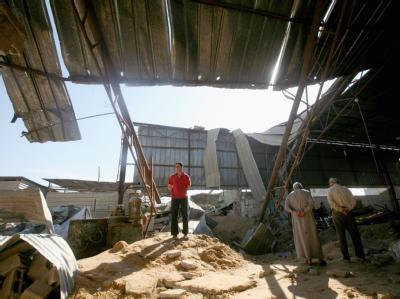 Zerstörung im Gazastreifen nach den israelischen Luftangriffen.
