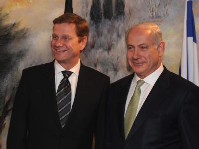 Außenminister Westerwelle mit Ministerpräsident Netanjahu in Israel.