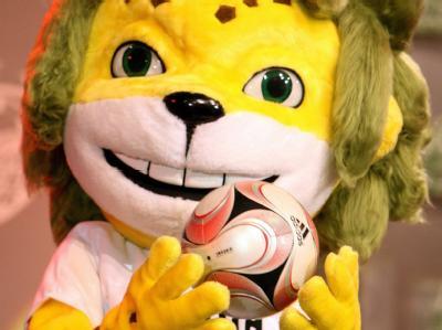 Leopard Zakumi, Maskottchen der Fußball-Weltmeisterschaft 2010.