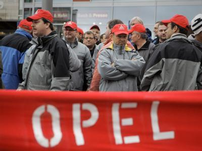 Unruhe in Rüsselsheim: 2400 Opel-Mitarbeiter sollen hier ihre Arbeit verlieren.