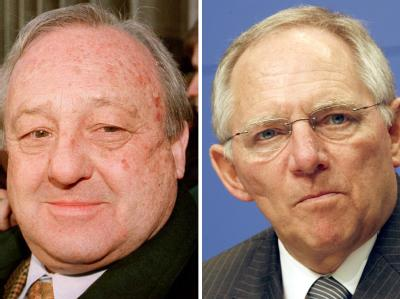 Bundesfinanzminister Wolfgang Schäuble (r.) muss wahrscheinlich nicht als Zeuge im Prozess gegen den Waffenlobbyisten Karlheinz Schreiber aussagen.
