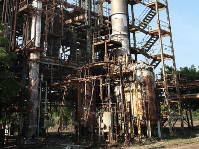 Die Fabrik von Union Carbide in Bhopal, die zwischen 15 000 und 25 000 Menschen das Leben gekostet hat.