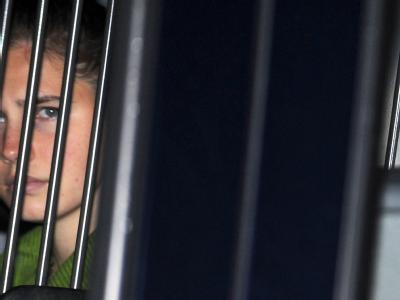 Amanda Knox am letzten Tag des Prozesses.