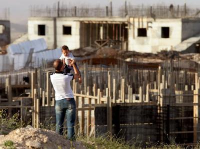 Neubauten jüdischer Siedlungen im Westjordanland.