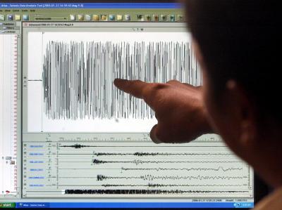 Seismographen-Messkurve: Der Erdstoß der Stärke 6,8 ereignete sich auf den Aleuten-Inseln. (Archiv- und Symbolbild)
