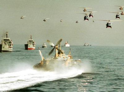 Manöver der iranischen Marine in der Straße von Hormus. Foto: Mikhail Metzel/Archiv