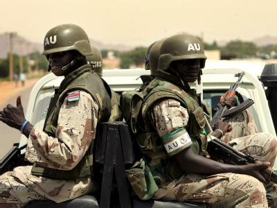 Soldaten in Darfur
