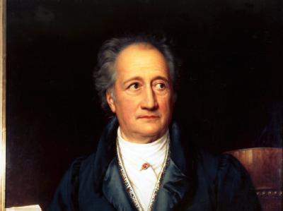 Johann Wolfgang von Goethe in einem Ölgemälde von Joseph Stieler und Friedrich Dürck.