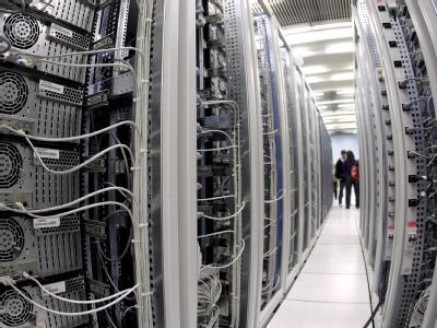 Computerzentrum des Teilchenphysiklabors CERN in Genf (Archiv).