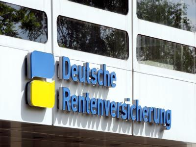 Eingang zur Deutschen Rentenversicherung in Berlin. Foto: Soeren Stache/Archiv