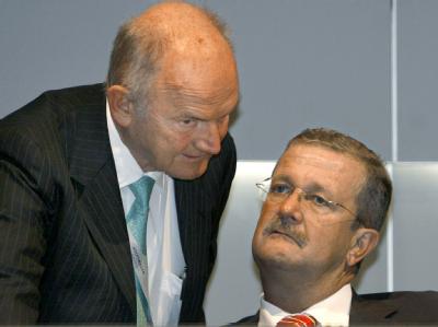 Als man noch miteinander sprach: Ferdinand Piëch (l.) und Porsche-Chef Wendelin Wiedeking auf einem Archivfoto vom 19.04.2007.