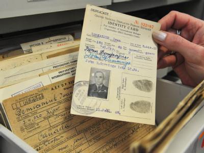 Identifikationskarte des mutmaßlichen NS-Kriegsverbrechers John Demjanjuk.