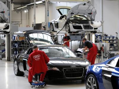 Nicht unbedingt ein Produkt für den Massenmarkt: Produktion des Audi R8 in Neckarsulm.