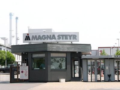 Magna-Werkseingang
