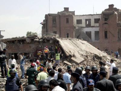 Ziel des Selbstmordanschlag war eine Polizeistation in Lahore.