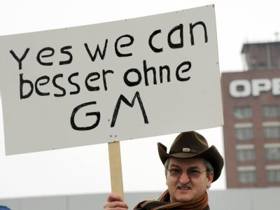 Protest gegen GM