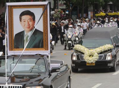 Staatsbegräbnis für Ex-Präsident Roh Moo Hyun.