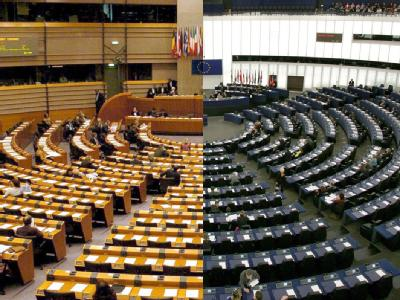 Die zwei Sitze des EU-Parlaments