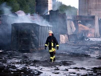 Gro�brand in Kiel