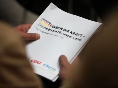 Das Regierungsprogramm 2009-2013 der CDU/CSU.