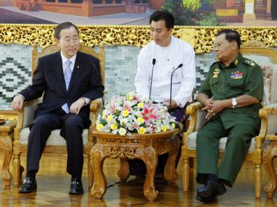 Ban Ki Moon und Than Shwe