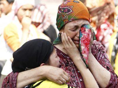 Fassungslosigkeit in Xinjiang: Eine Mutter und ihre Tochter in Ürümqi.