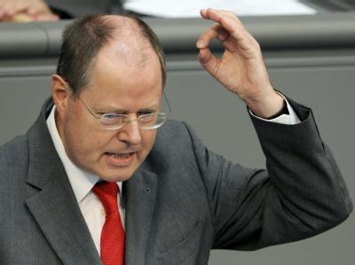 Immer für Polemik gut: Bundesfinanzminister Peer Steinbrück (SPD).