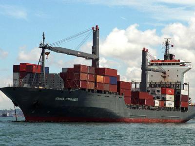 Das von Piraten entführte Hamburger Containerschiff