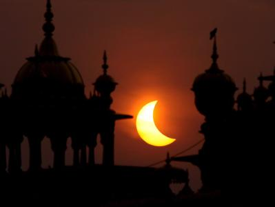 Sonnenfinsternis in Indien