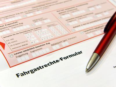 Ein Fahrgastrechte-Formular für ein einheitliches Entschädigungsverfahren für Bahnkunden.