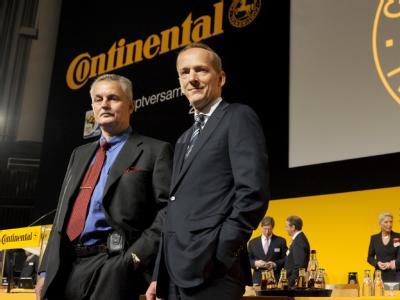 Beide müssen gehen: Conti-Aufsichtsratschef Rolf Koerfer (l.) und der Vorstandsvorsitzende Karl-Thomas Neumann.