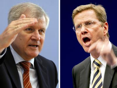 Der bayerische Ministerpräsident Horst Seehofer (l.) und FDP-Chef Guido Westerwelle.